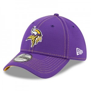 Minnesota Vikings New Era 2019 Official Road Sideline 39THIRTY Stretch Fit Cap