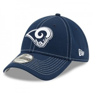 Los Angeles Rams New Era 2019 Official Road Sideline 39THIRTY Stretch Fit Cap