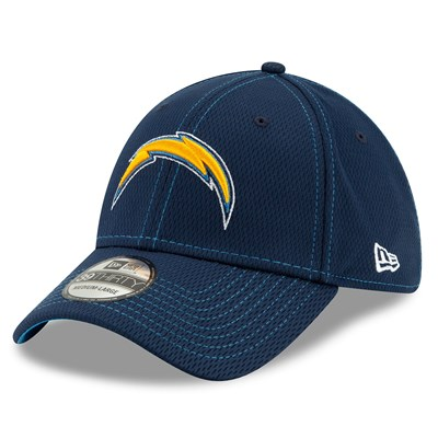 Los Angeles Chargers New Era 2019 Official Road Sideline 39THIRTY Stretch Fit Cap
