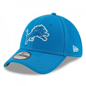 Detroit Lions New Era 2019 Official Road Sideline 39THIRTY Stretch Fit Cap