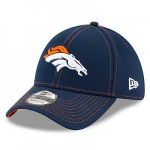 Denver Broncos New Era 2019 Official Road Sideline 39THIRTY Stretch Fit Cap
