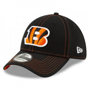 Cincinnati Bengals New Era 2019 Official Road Sideline 39THIRTY Stretch Fit Cap