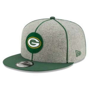 Green Bay Packers New Era 2019 Official Home Sideline 1920-25 9FIFTY Snapback Cap