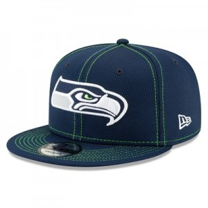 Seattle Seahawks New Era 2019 Official Road Sideline 9FIFTY Snapback Cap