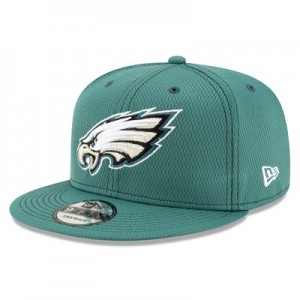 Philadelphia Eagles New Era 2019 Official Road Sideline 9FIFTY Snapback Cap