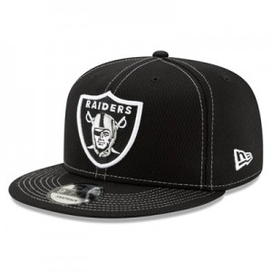 Oakland Raiders New Era 2019 Official Road Sideline 9FIFTY Snapback Cap