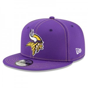 Minnesota Vikings New Era 2019 Official Road Sideline 9FIFTY Snapback Cap