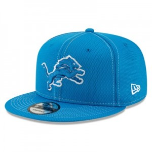Detroit Lions New Era 2019 Official Road Sideline 9FIFTY Snapback Cap