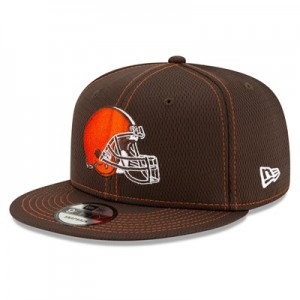 Cleveland Browns New Era 2019 Official Road Sideline 9FIFTY Snapback Cap
