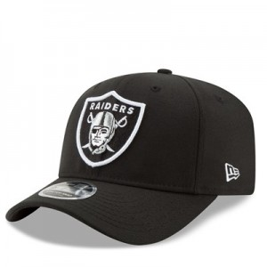 Oakland Raiders New Era Stretch Snap 9FIFTY Snpaback Cap - Black