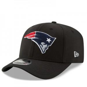 New England Patriots New Era Stretch Snap 9FIFTY Snpaback Cap - Black
