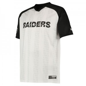 Oakland Raiders New Era Stripe Oversized T-Shirt - Mens