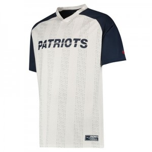 New England Patriots New Era Stripe Oversized T-Shirt - Mens
