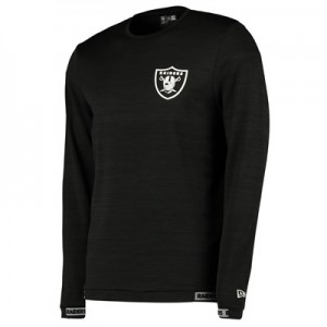 Oakland Raiders New Era Engineered Raglan Long Sleeve T-Shirt - Mens