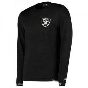 Oakland Raiders New Era Engineered Raglan Long Sleeve T-Shirt - Mens