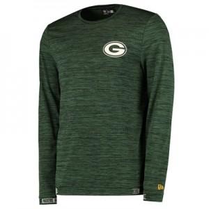 Green Bay Packers New Era Engineered Raglan Long Sleeve T-Shirt - Mens