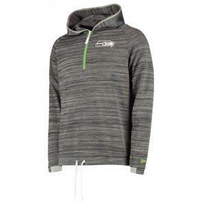 Seattle Seahawks New Era Engineered Half Zip Hoodie - Mens