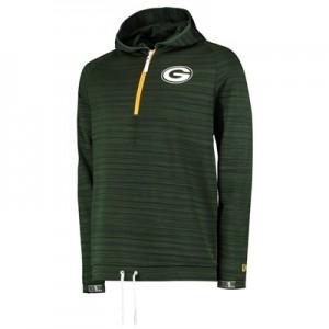 Green Bay Packers New Era Engineered Half Zip Hoodie - Mens