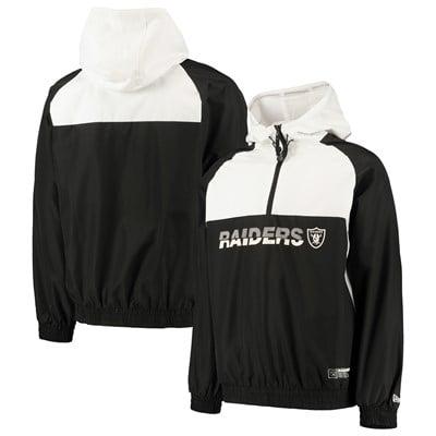 Oakland Raiders New Era Colour Block Half Zip Windbreaker - Mens
