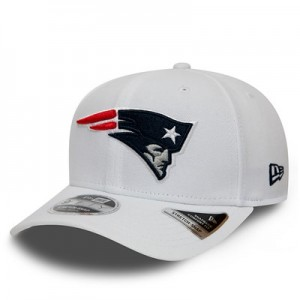 New England Patriots New Era Stretch Snap 9FIFTY Snpaback Cap - White