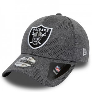 Oakland Raiders New Era Engineered Plus 39THIRTY Stretch Fit Cap