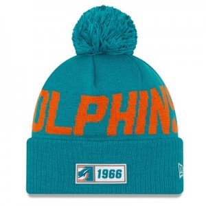 Miami Dolphins New Era 2019 Official Cold Weather Road Knit