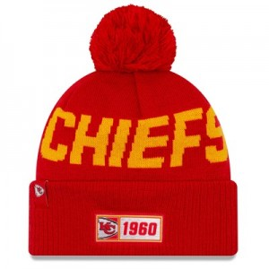 Kansas City Chiefs New Era 2019 Official Cold Weather Road Knit