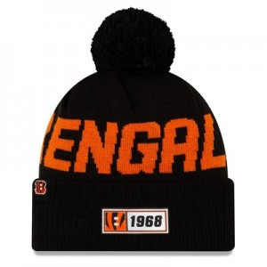 Cincinnati Bengals New Era 2019 Official Cold Weather Road Knit