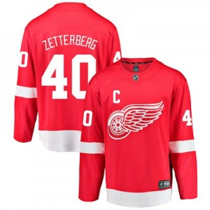 Detroit Red Wings Home Breakaway Jersey - Henrik Zetterberg - Mens