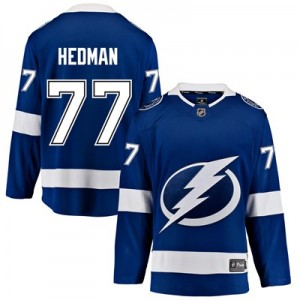 Tampa Bay Lightning Fanatics Branded Home Breakaway Jersey - Victor Hedman - Mens