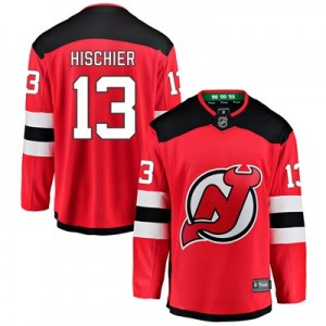 New Jersey Devils Fanatics Branded Home Breakaway Jersey - Nico Hischier - Mens
