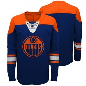 Edmonton Oilers Perennial Long Sleeve Crew - Youth