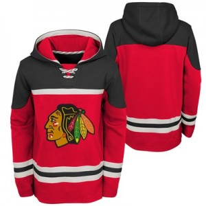 Chicago Blackhawks Asset Pullover Hockey Hoodie - Youth