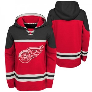 Detroit Red Wings Asset Pullover Hockey Hoodie - Youth