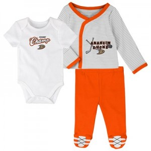 Anaheim Ducks Bodysuit 3 Piece Set - Newborn
