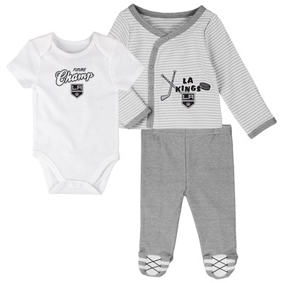 Los Angeles Kings Bodysuit 3 Piece Set - Newborn