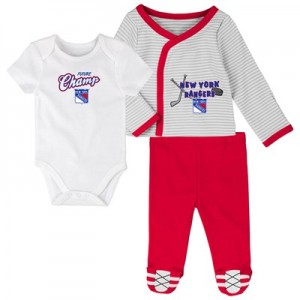 New York Rangers Bodysuit 3 Piece Set - Newborn