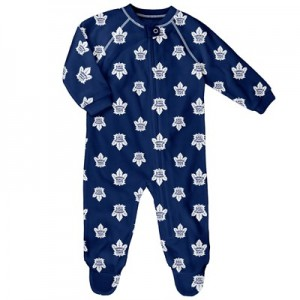 Toronto Maple Leafs Raglan AOP Sleeper Suit - Newborn