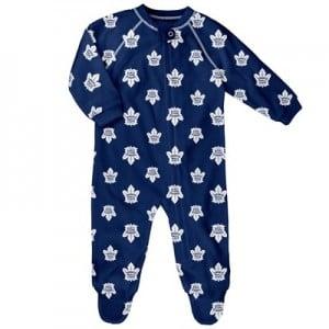 Toronto Maple Leafs Raglan AOP Sleeper Suit - Newborn