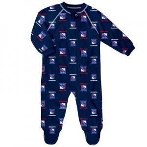 New York Rangers Raglan AOP Sleeper Suit - Newborn
