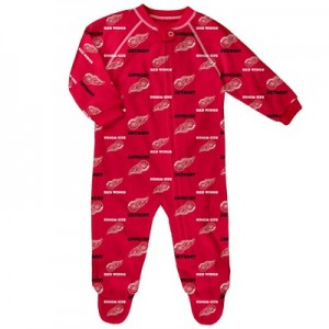 Detroit Red Wings Raglan AOP Sleeper Suit - Newborn