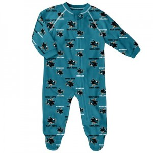 San Jose Sharks Raglan AOP Sleeper Suit - Newborn