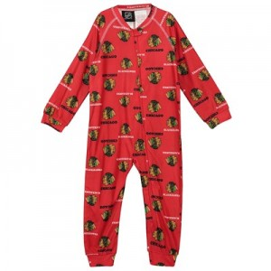Chicago Blackhawks Raglan AOP Sleeper Suit - Toddler