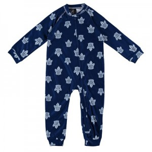 Toronto Maple Leafs Raglan AOP Sleeper Suit - Toddler
