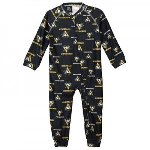Pittsburgh Penguins Raglan AOP Sleeper Suit - Toddler