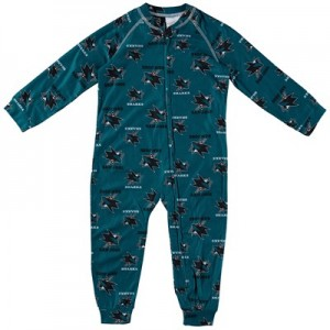 San Jose Sharks Raglan AOP Sleeper Suit - Toddler