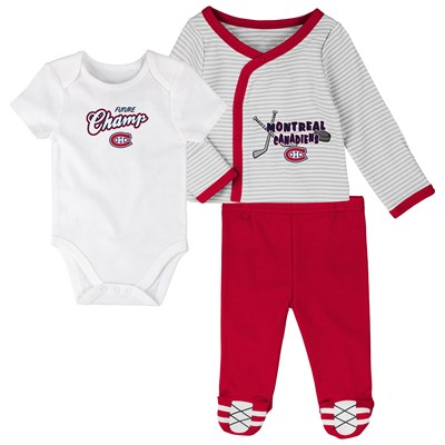 Montreal Canadiens Bodysuit 3 Piece Set - Newborn