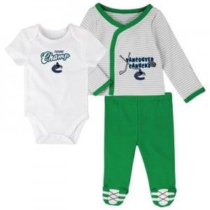 Vancouver Canucks Bodysuit 3 Piece Set - Newborn