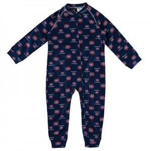 Montreal Canadiens Raglan AOP Sleeper Suit - Toddler