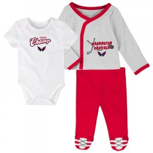 Washington Capitals Bodysuit 3 Piece Set - Newborn